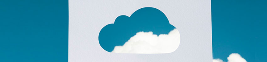 Cloud services in San Jose, CA, visually represented by paper cloud cutout.